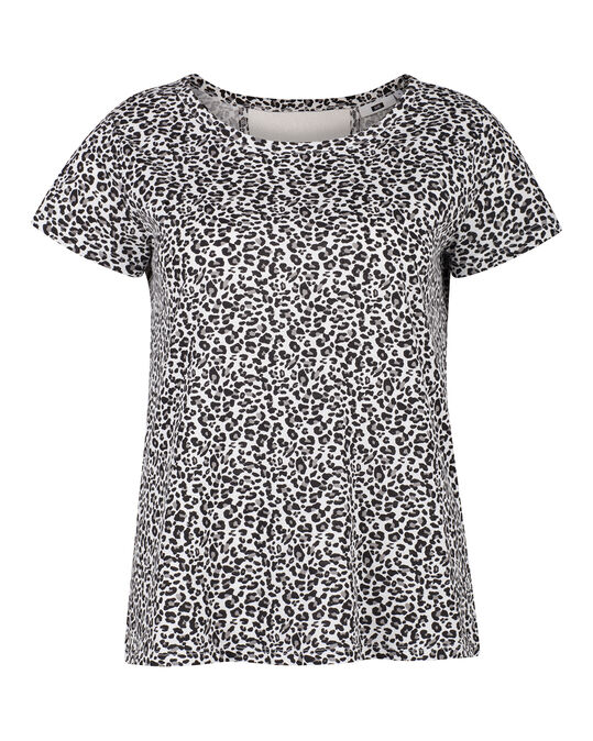 DAMES CUT OUT T-SHIRT Wit