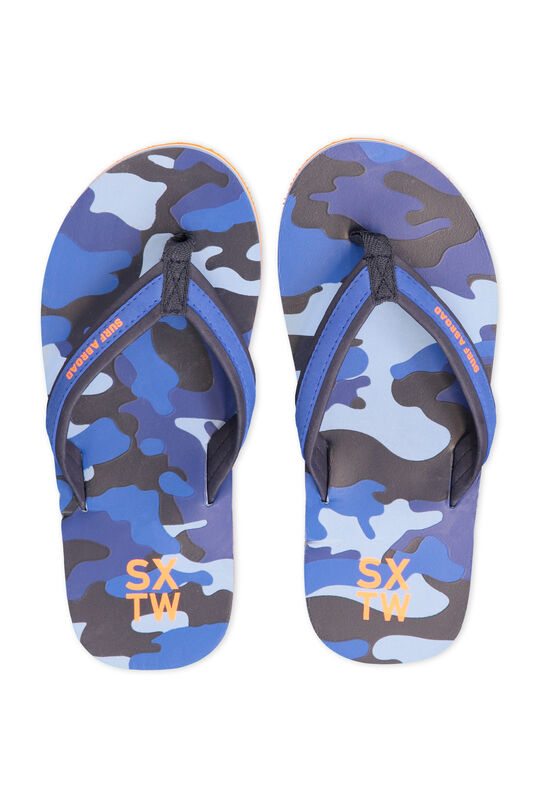 Jongens teenslippers met camouflagedessin All-over print