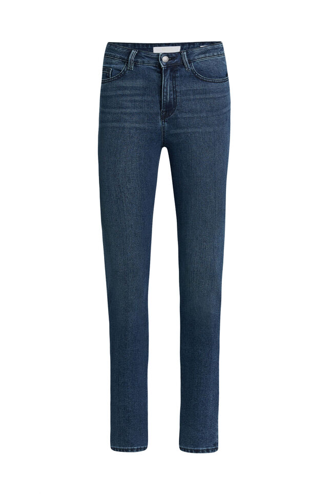 Dames high rise skinny jeans Blauw