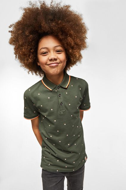 Jongens polo met dessin All-over print