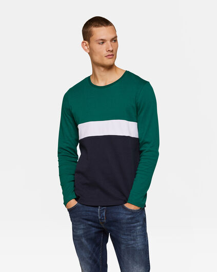 HEREN COLOURBLOCK T-SHIRT Groen