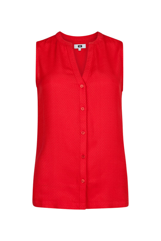 Dames jacquard top Rood