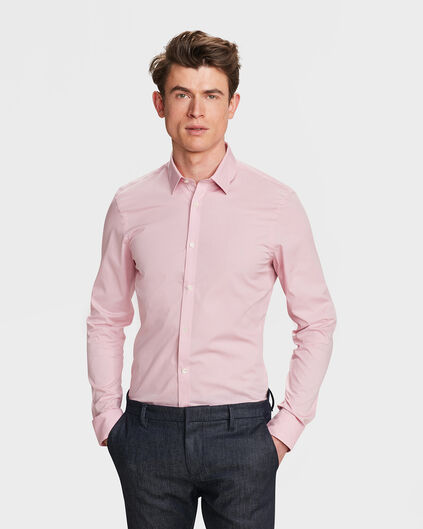 HEREN SLIM FIT STRETCH OVERHEMD Roze