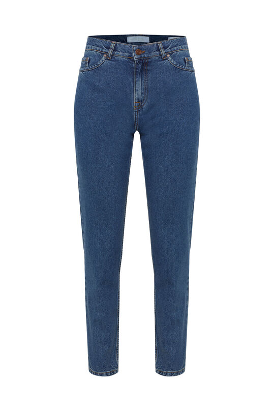 Dames high rise tapered jeans Blauw