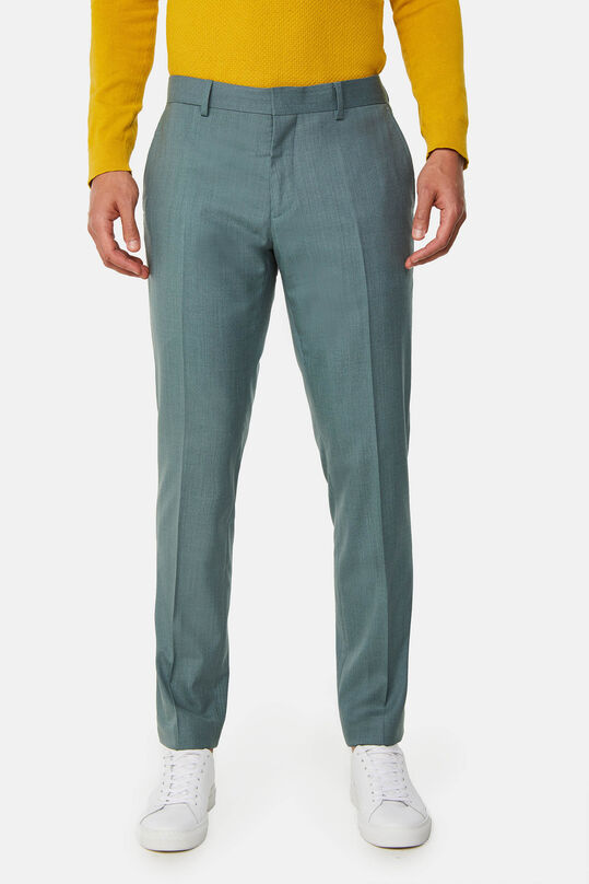 Heren slim fit pantalon Dali met stretch Grijsgroen