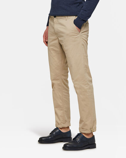 Heren regular tapered chino Gebroken wit