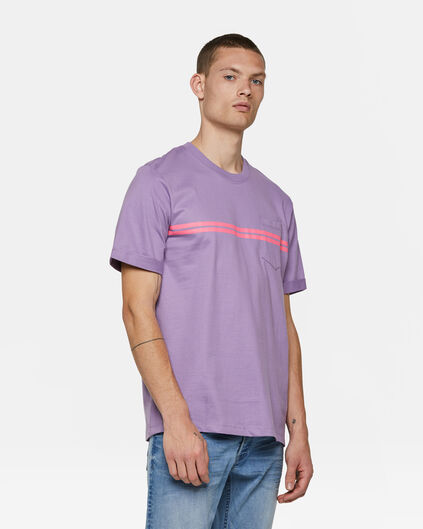 Heren loose fit T-shirt Paars