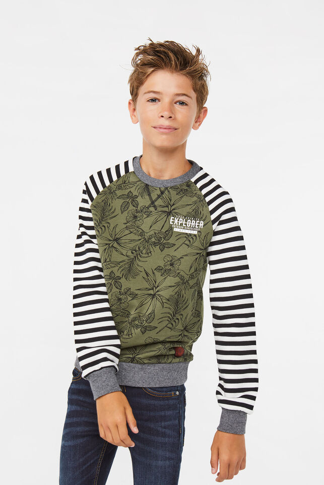 Jongens jungle sweater Legergroen