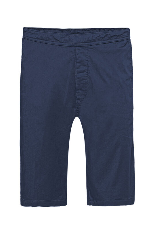 Heren regular fit chinoshort met stretch Donkerblauw