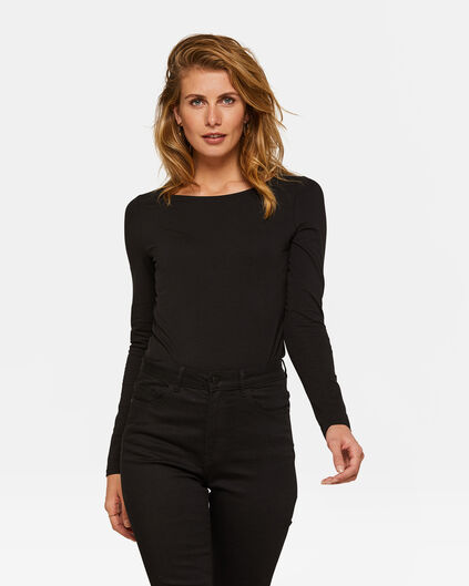 DAMES ORGANIC COTTON SHIRT Zwart