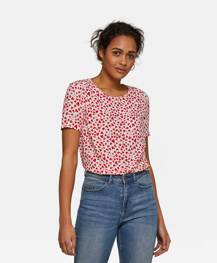 Dames dessin top Rood