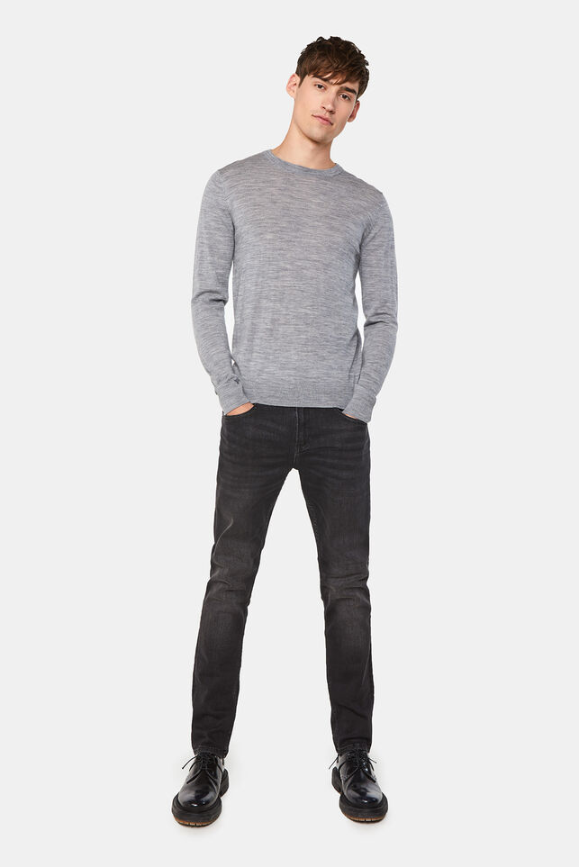 Heren regular fit jeans met stretch Zwart