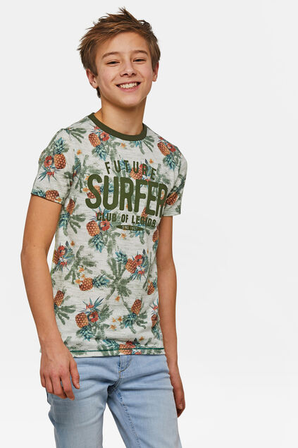 Jongens surfprint T-shirt Groen