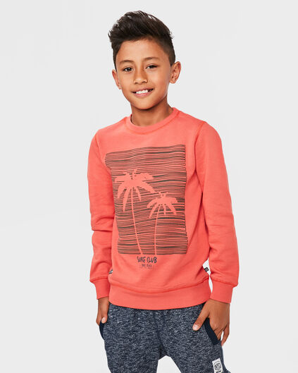 JONGENS PALM TREE SWEATER Oranje