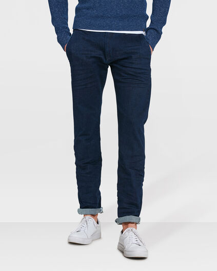 HEREN SLIM FIT COMFORT STRETCH CHINO Donkerblauw