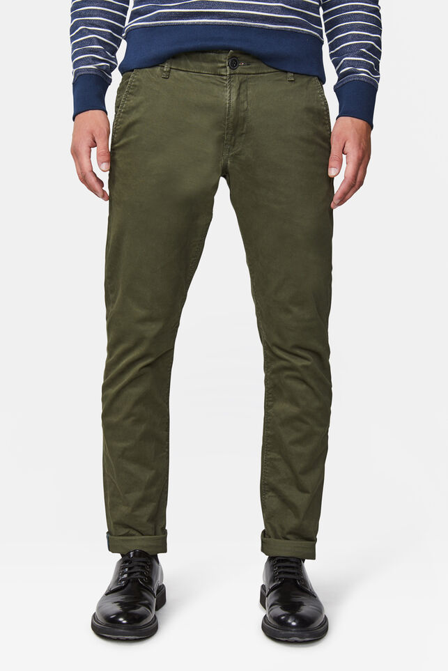 Heren slim tapered chino Donkergroen