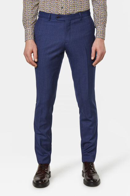 Heren tailored fit pantalon Matera Blauw