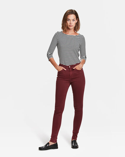 DAMES HIGH RISE SKINNY JEANS Bordeauxrood