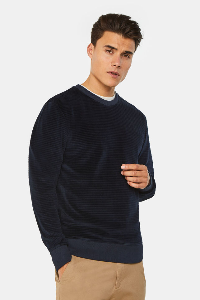 Heren geribde sweater Groen