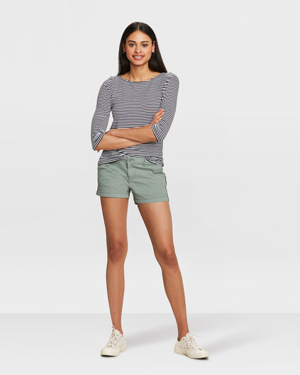 DAMES RELAXED FIT CHINO SHORT Olijfgroen