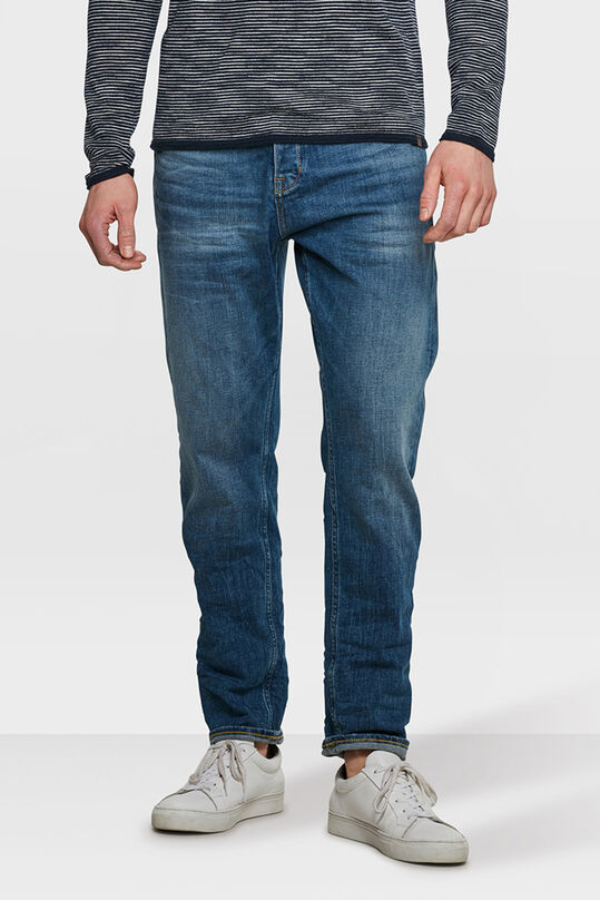 HEREN LOOSE TAPERED COMFORT STRETCH JEANS Blauw