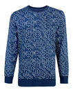 HEREN DOT PRINT SWEATER, Blauw