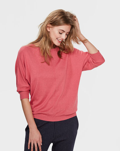 DAMES OVERSIZED KNIT TRUI Roze