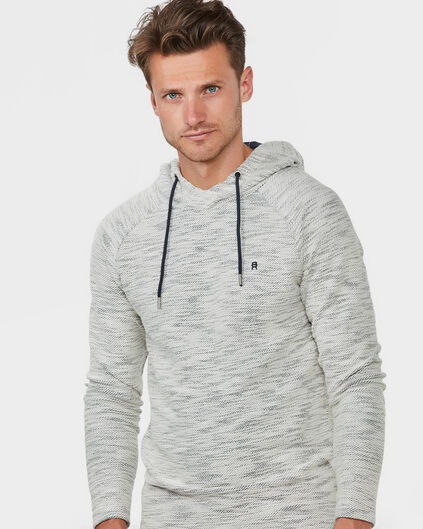 HEREN BLENDED HOODED SWEATER Gebroken wit