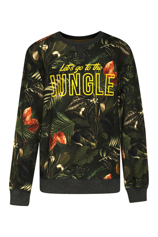 Jongens jungle sweater Donkergroen
