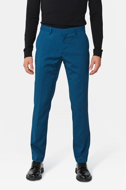 Heren slim fit pantalon Dali Donkerblauw