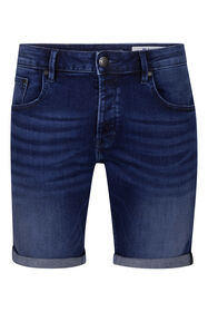 Heren regular fit denim short_Heren regular fit denim short, Donkerblauw