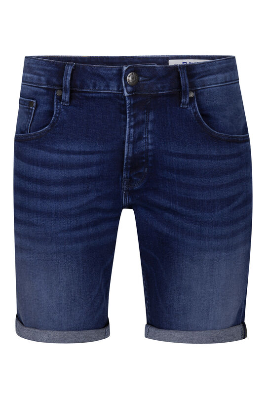 Heren regular fit jog denim short Donkerblauw
