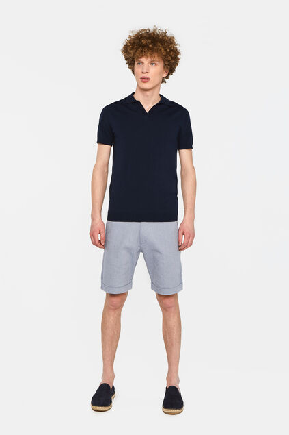 Heren slim fit short Donkerblauw