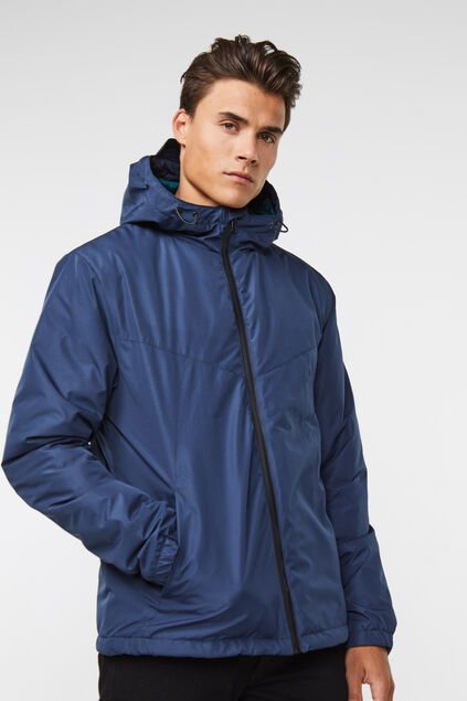 Heren windbreaker jacket Marineblauw