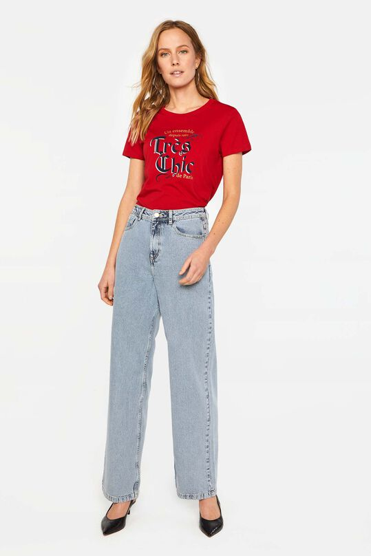 Dames high rise wide leg jeans Lichtblauw