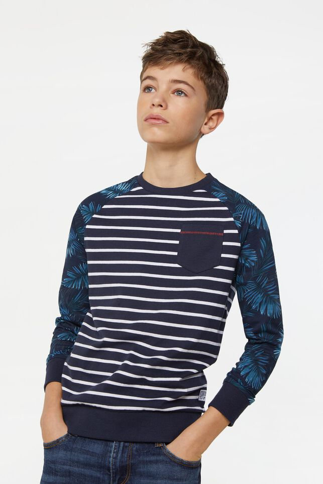 Jongens gestreepte sweater All-over print