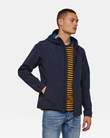 Heren windbreaker Marineblauw