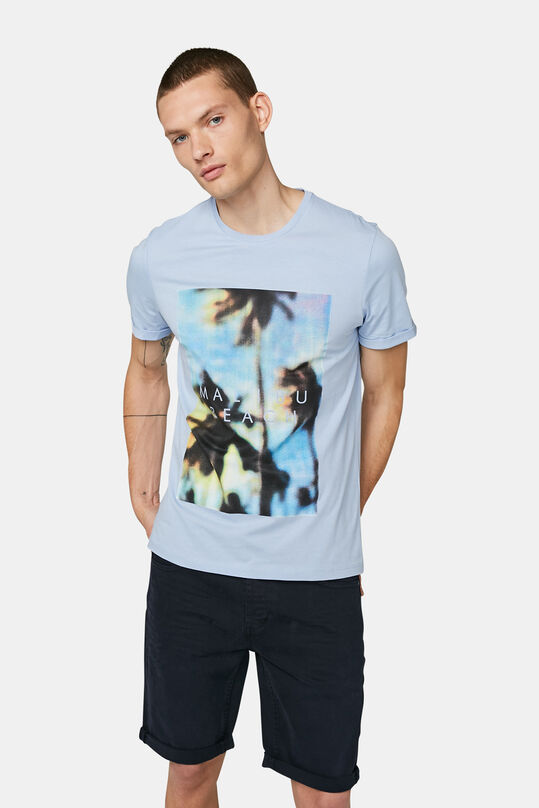 Heren geprint T-shirt Pastelblauw