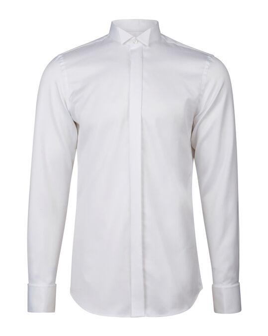 HEREN SLIM FIT SMOKING OVERHEMD Wit