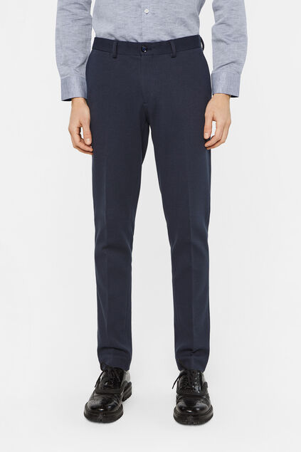 Heren slim fit pantalon Donkerblauw