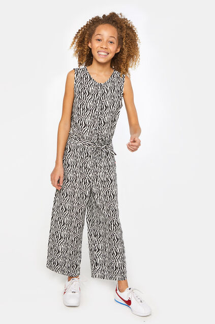 Meisjes jumpsuit met zebradessin All-over print