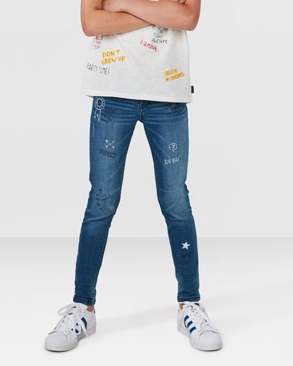 MEISJES SUPER SKINNY POWER STRETCH JEANS Blauw