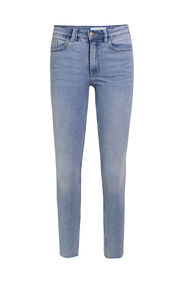 Dames high rise skinny jeans_Dames high rise skinny jeans, Lichtblauw