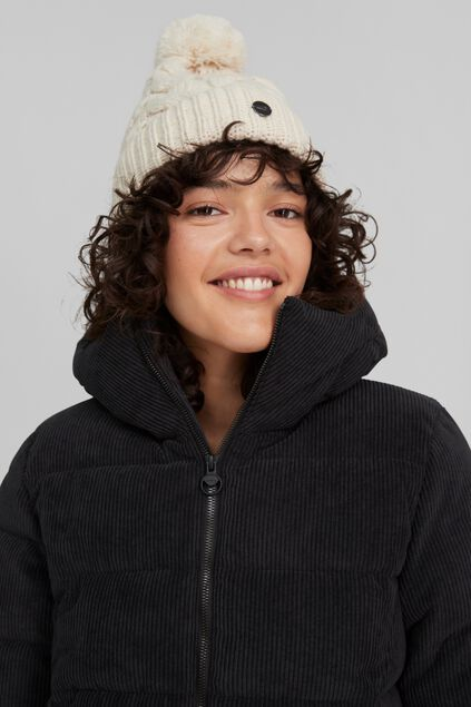 Dames O`Neill Nora Wool Beanie Wit