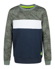 JONGENS COLOURBLOCK SWEATER_JONGENS COLOURBLOCK SWEATER, Legergroen