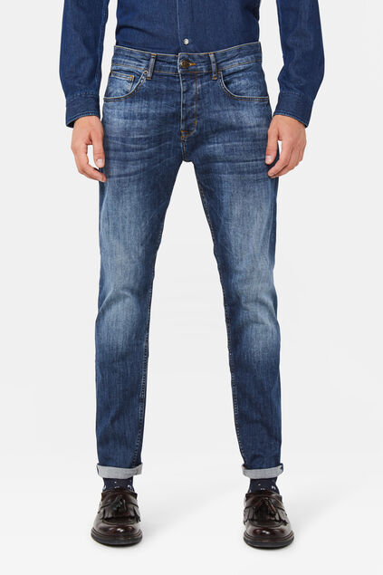 Heren atletic fit jeans Blauw