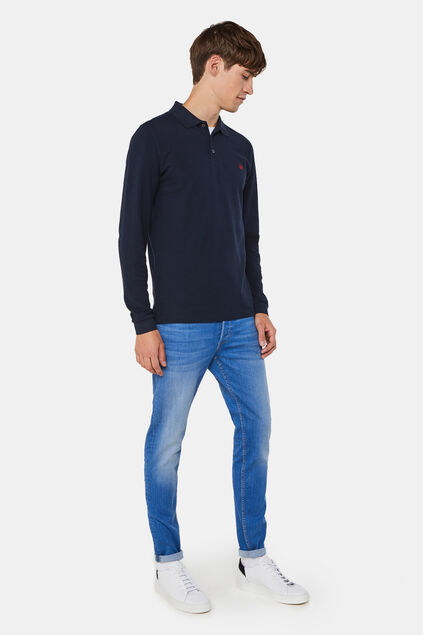 Heren skinny fit super stretch jeans Blauw