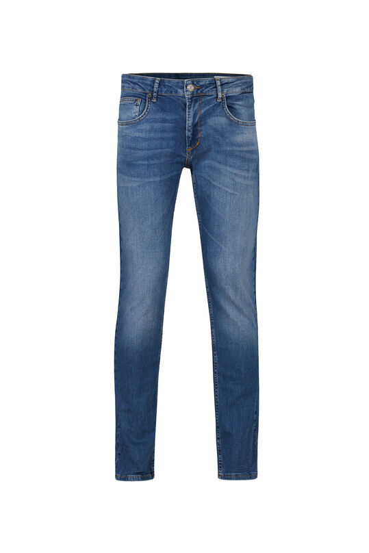 Heren regular fit jeans met stretch Blauw