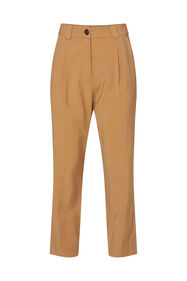 Dames pantalon met high waist_Dames pantalon met high waist, Lichtbruin