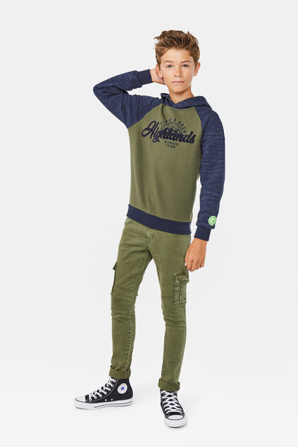 Jongens highlands sweater Legergroen